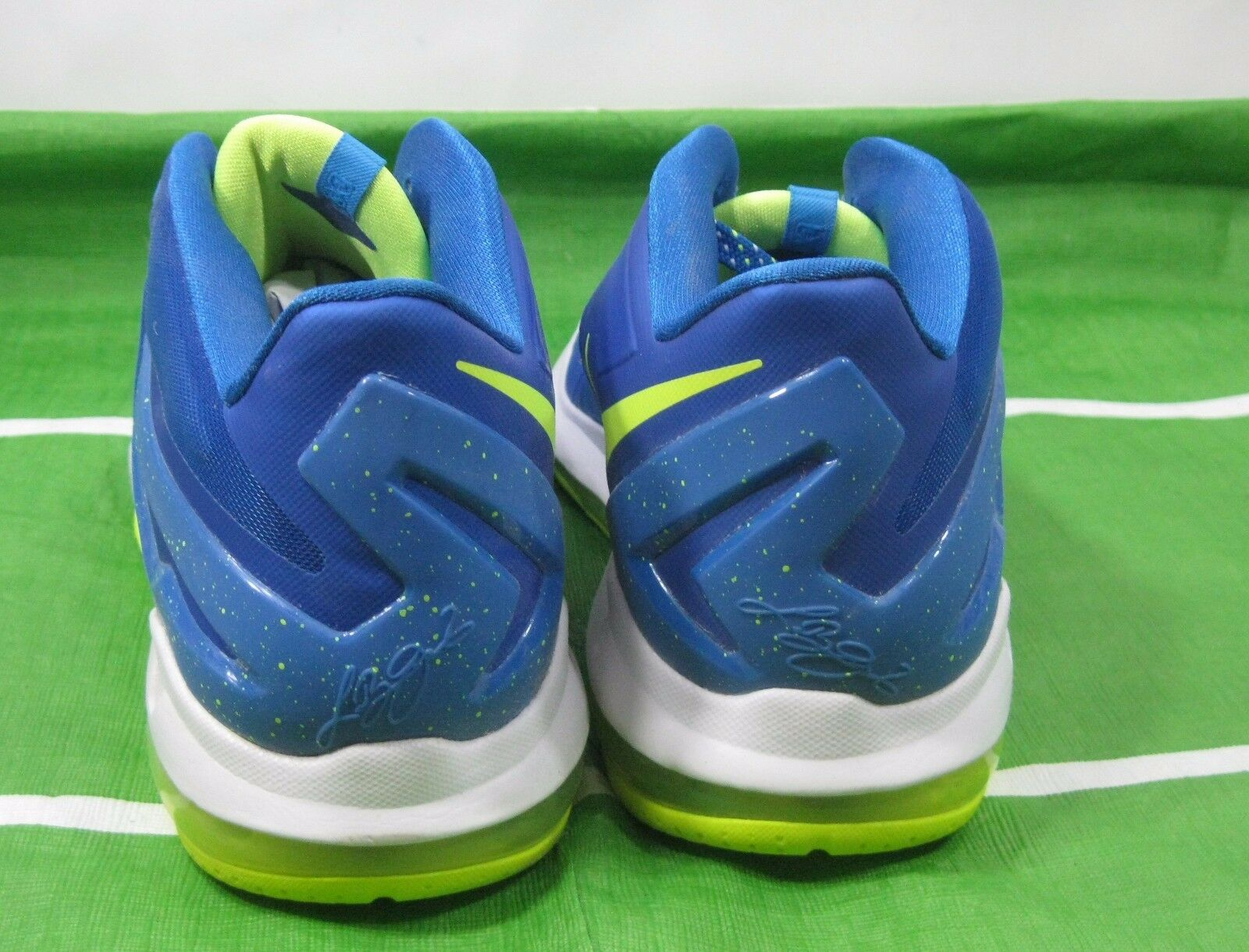 e83f0cb9614 Nike Air Max Lebron XL 11 Low Sprite HYPER Cobalt Volt Blue 642849 471 for  sale online