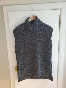 Everlane The Chunky Wool Sleeveless Turtleneck Sweater Tank Size Medium