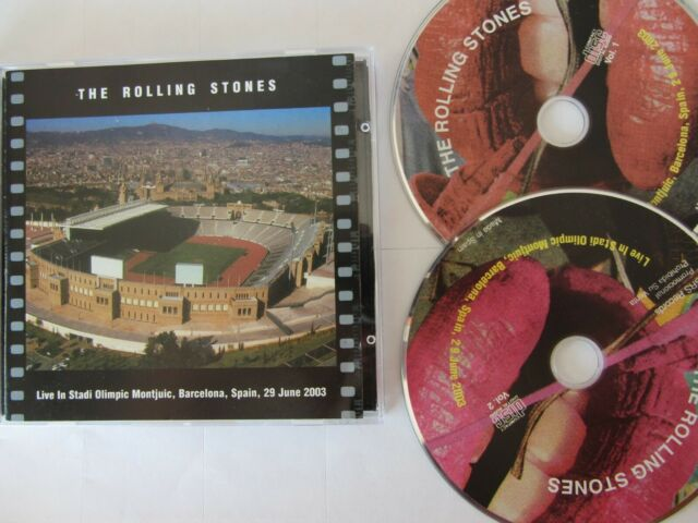 ROLLING STONES LIVE IN BARCELONA 2003 2CD SILVER IN VERY GOOD CONDITIONS