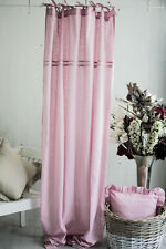 JULIA ROSA Vorhänge 2x(120x250cm) Gardinen Landhaus Shabby Franske Curtain CHIC