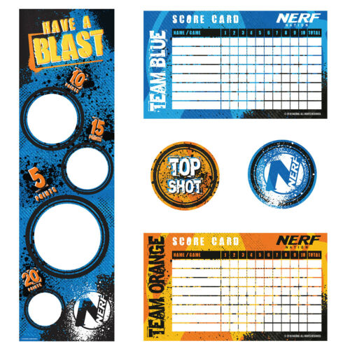 NERF Party Target Game for 8 Players Boys Have a Blast NERF Birthday Party