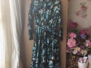 Impresionante-vestido-clasico-Marks-and-Spencer-Especial-Ocasion-Vestido-talla-14