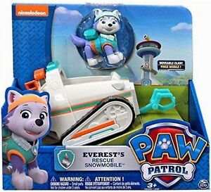 Paw-Patrol-Everest-039-s-Rescue-Snowmobile-Vehicle-and-Figure-FREE-SHIPPING