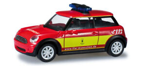 Herpa-049801-Mini-Cooper-034-fire-departamento-de-Munich-034-1-87-modelismo