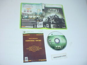 FALLOUT 3 game complete w/ Manual for Microsoft XBOX 360