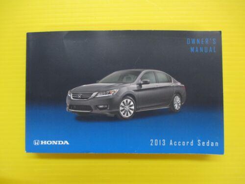 Accord Sedan 13 2013 Honda Owners Owner/'s Manual OEM