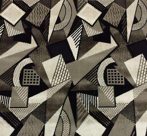 Larsen Toshibi Black White Geometric Velvet Upholstery Fabric 1 5