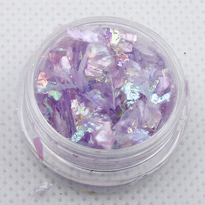 Chunky Hexagon Mylar Ice Flakes Nail Art Glitter