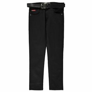 Lee-Cooper-Belted-Skinny-Jeans-Youngster-Boys-Pants-Trousers-Bottoms-Lightweight