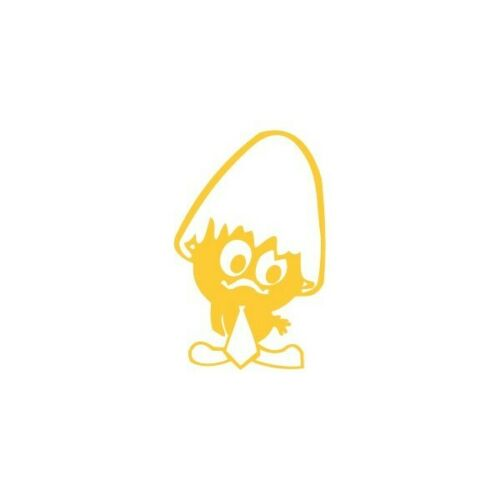 Gold Color 10cm Calimero Pre-Spaced Sticker ADESIVI Auto//Moto LEGGI