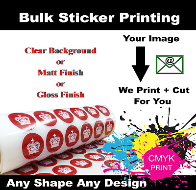 GLOSS Vinyl Personalised Sticker Logo Shop Decals Bulk Printed Custom Stickers