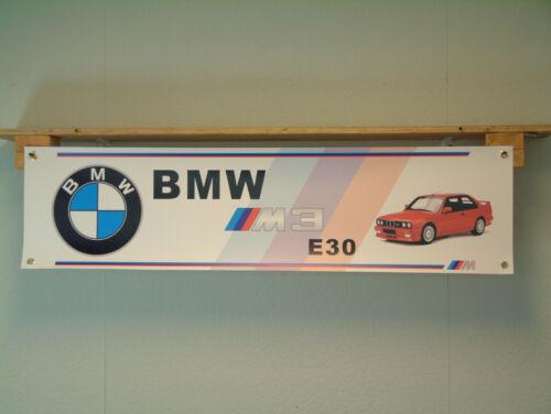 BMW M3 E30 pantalla del vehículo Taller Garaje Banner Auto Show