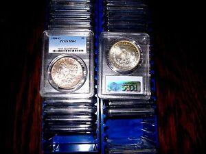 PCGS-MS62-Morgan-Silver-Dollar-U-S-Mint-Coin