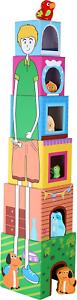 """moteur Toys 6 Petit pied 10044 Coloré empilable cubes /""""Animaux/"""" en carton"""