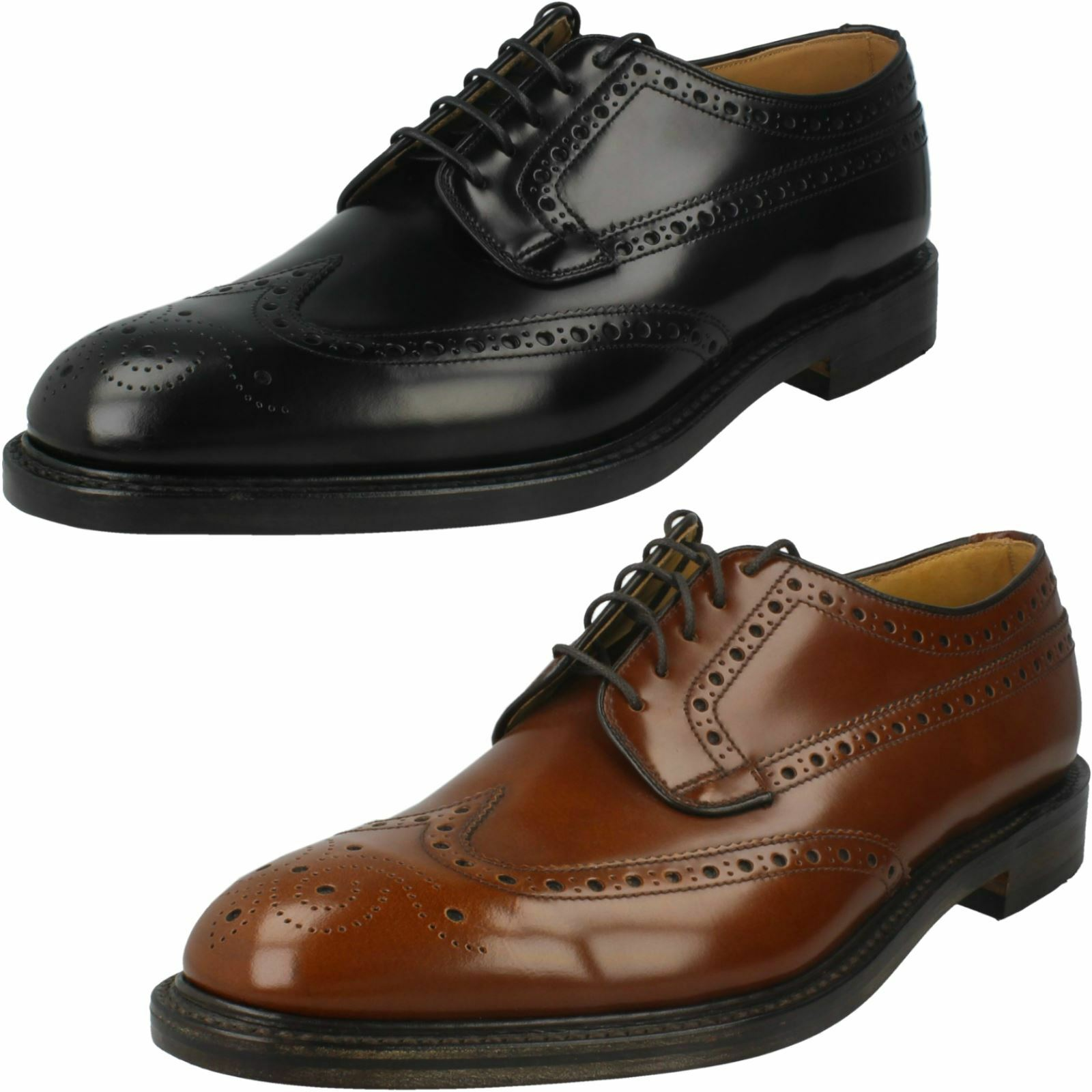Para Hombre Loake acordonados formal Zapatos Brogue Braemar