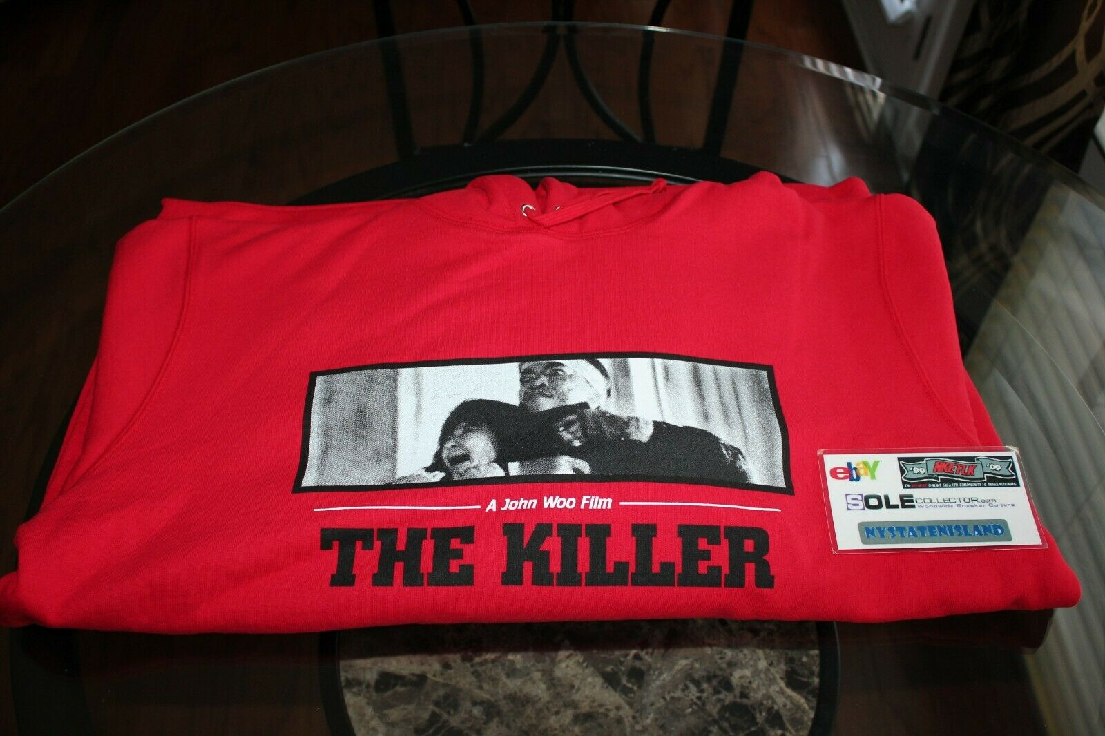 Supreme The Killer Hooded schweißhemd rot FW18 Größe XL Brand New With Tags