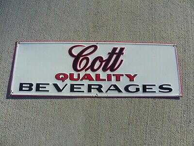 "COTT BEVERAGE  9/"" x 12/"" Sign"