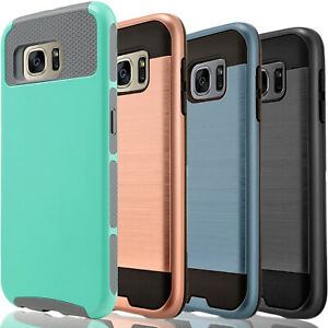 For-Samsung-Galaxy-S7-Active-Edge-Phone-Case-Cover-Tempered-Glass-Protector
