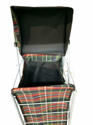 Deluxe Shopping Chariot Pliable 4 Roues Imperméable Taille 93 x 50 x50 cm