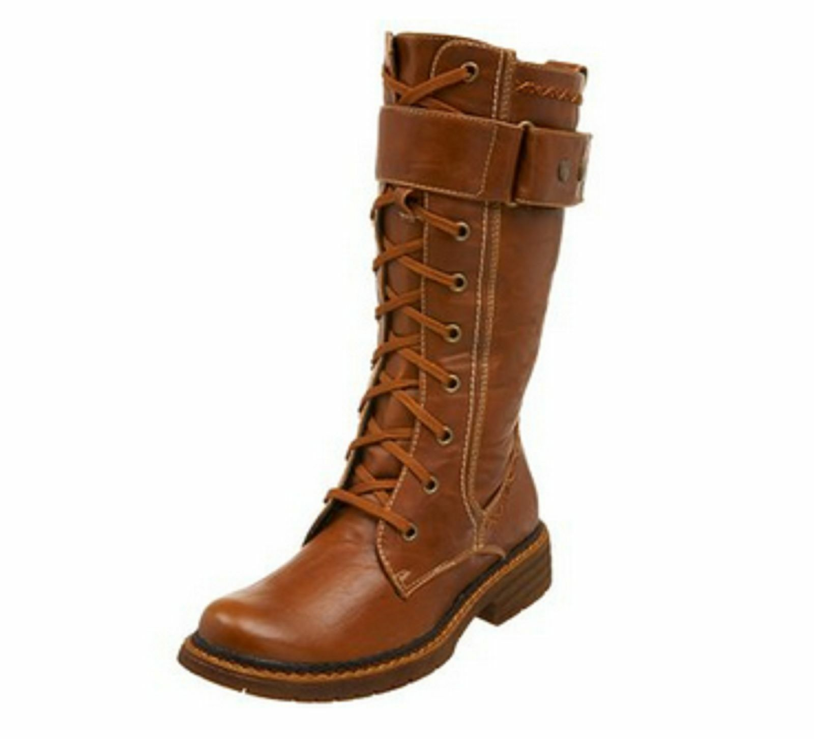 Wanted Shoes Women's Queen Lace Up Boot ,Tan, Size 10 M US