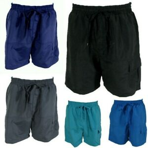 Mens-Board-Shorts-Boardies-Beach-Swim-Casual-Elastic-Waist-Pockets-S-M-L-XL-2XL