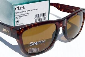 7fc5ec306ce NEW  SMITH Optic CLARK Matte Havana w POLARIZED Carbonic Brown ...