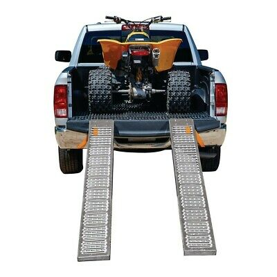 "9/""x72/"" Folding Set of 2 1000 lb Capacity Steel Ramps Bike ATV Lawn Mower Loading"