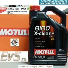 5 Litri Motul 8100 X-CLEAN+ 5W30 C3 Olio Tagliando Motore Auto VW 504.00 507.00