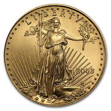 2003 1/2 oz Gold American Eagle Coin - Brilliant Uncirculated - SKU #7485