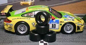 1/32 URETHANE SLOT CAR TIRES 2pr PGT-21126XD fit CARRERA Porsche 997 GT3