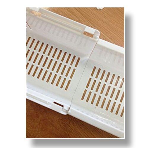 Plastic Bath Tub Caddy Tray Toy Storage Basket with Extending Sides
