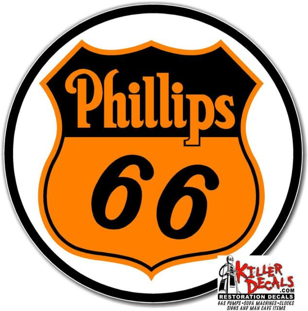 """6/"""" PHILLIPS 66 SHIELD MOTOR OIL GASOLINE GAS DECALS STICKER PHIL8"""