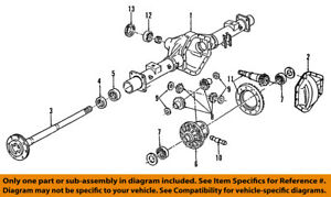 gm oem rear axle seals 19180849 ebay rh ebay com 2005 GMC Sierra Rear Axle 2001 GMC Yukon Rear Axle