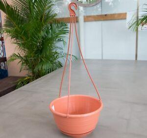 200mm-Outdoor-Indoor-Garden-Patio-Plant-Round-Terracotta-Plastic-Hanging-Basket