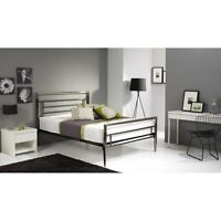 Europa Eclipse 4ft6 Double Size Metal Bed