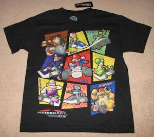 Nintendo Mario Kart Ds Characters Game Blk S S Tee T Shirt Sz 10
