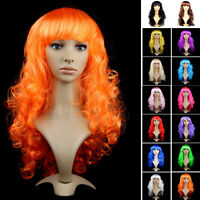 """Halloween Wig Women Long Curly Straight Hair NEW Anime Cosplay Party Full Wig """""""