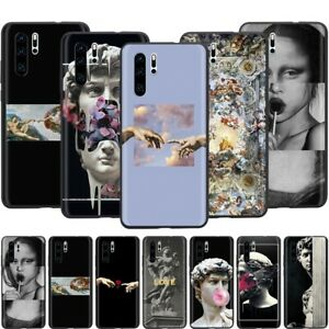 Michelangelo Art Statue Aesthetic Soft Case For Huawei P10 P20 ...