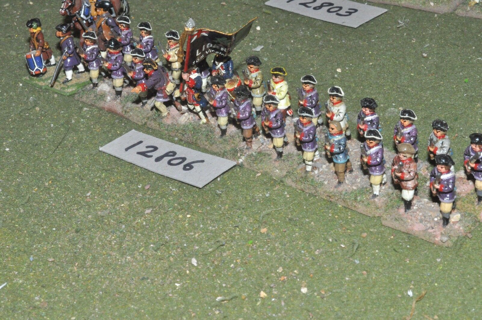 25mm AWI   american - infantry 30 figs - inf (12806)