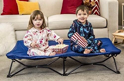 Portable Toddler Bed Cot, all steel frame large sleep surface- Inc. case, Royal