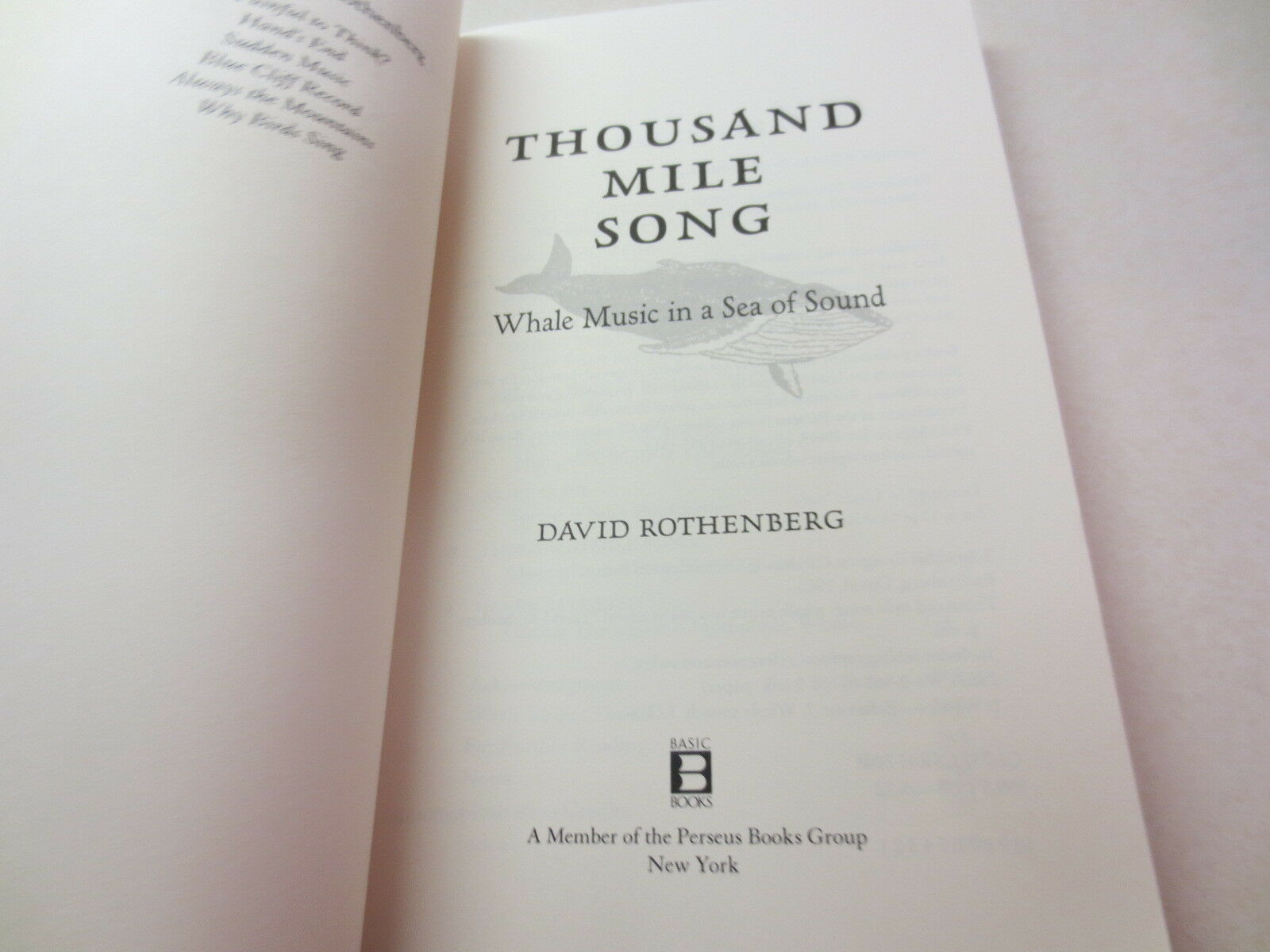 Thousand-Mile Song : Whale Music in a Sea of Sound by David Rothenberg  (2010, Paperback) | eBay