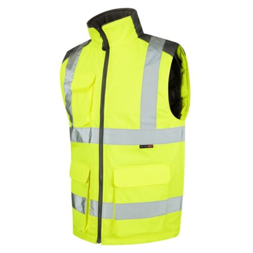 Hi Vis Bodywarmer Snug Fit Warm Lining ISO 20471 Class 2 Yellow or Orange S-6XL