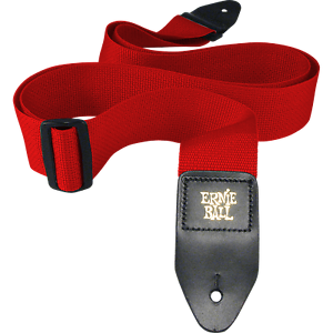 Ernie-Ball-Red-Polypro-Guitar-Strap