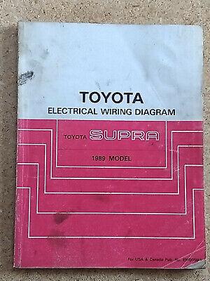 1989 toyota supra fuse diagram 1989 toyota supra electrical wiring diagram service manual ebay  1989 toyota supra electrical wiring