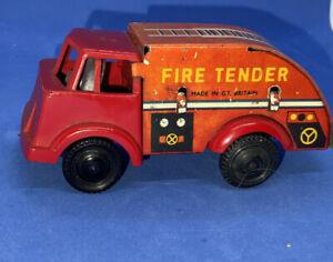 Vintage-Tinplate-Plastic-Fire-Tender-Wells-Brimtoy-Tin-Plate-Locmm18