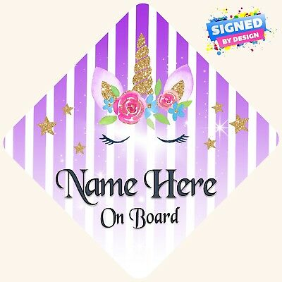 Personalised Purple /& Pink   FLORAL DADDYS PRINCESSES   Baby on Board Car Sign