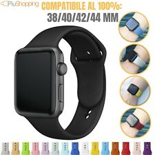 CINTURINO PER APPLE WATCH SERIE 1 2 3 4 IN SILICONE SPORT 38 40 42 44 MM