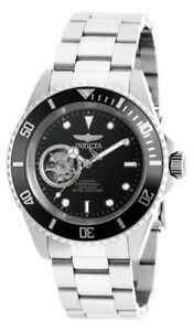 Invicta-20433-Men-039-s-Round-Black-Automatic-Analog-Stainless-Steel-Watch