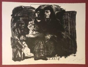 Alfred Hrdlicka, Portrait Studio, litografia, 1985, firmato a mano