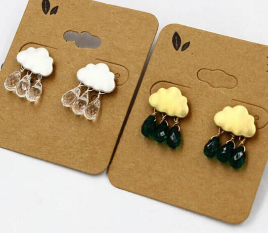 1 Pair Korea Vogue Cool Clouds Raindrop Beads Club Lady Stud Earrings 2 Color